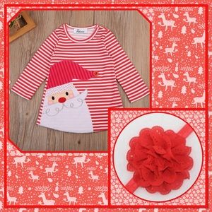 "🎅🏽New🎅🏽Christmas ""Santa Dress"" & Bow🎅🏽"